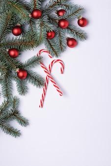 Fundo de natal com decoração de ano novo
