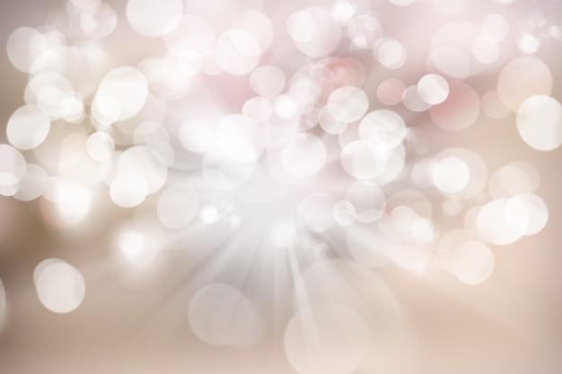 Fundo de natal com desenho de luzes bokeh