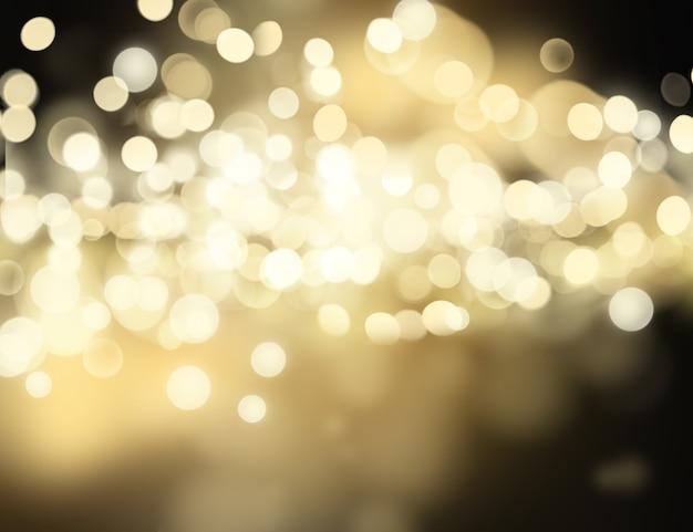 Fundo de natal com luzes bokhe