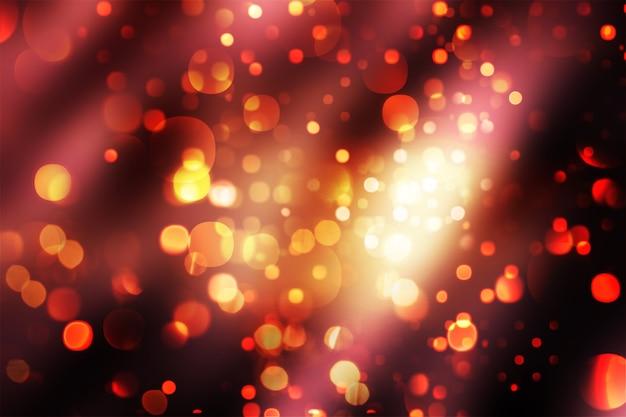 Fundo de natal com luzes cintilantes de bokeh