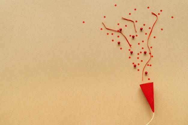 Fundo de natal em conceito de festa pop-up, papel de arte