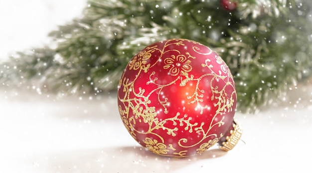 Fundo de natal. feliz ano novo. feriado com foco seletivo