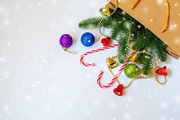Fundo de natal. feliz ano novo. focusholidays seletivos