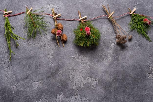 Fundo de natal, textura de madeira