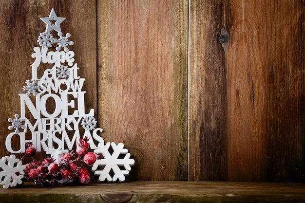 Fundo de natal vintage com decoração de natal.