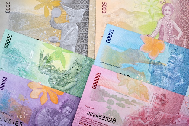 Fundo de negócios da rupia indonésia