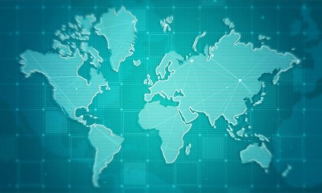 Fundo de negócios do mundo mapa