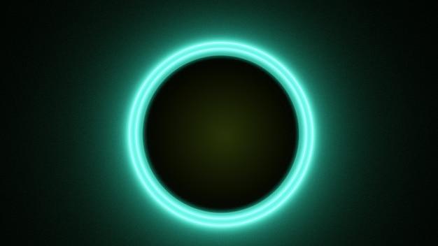 Fundo de neo círculo de renderização 3d