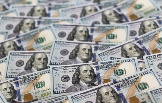 Fundo de notas de 100 dólares