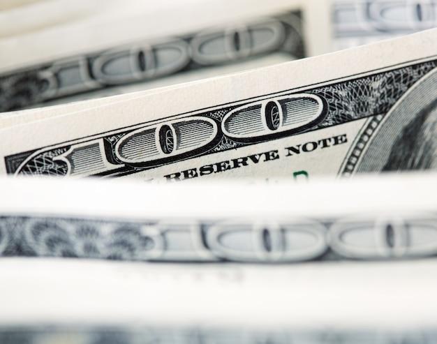 Fundo de notas de $ 100
