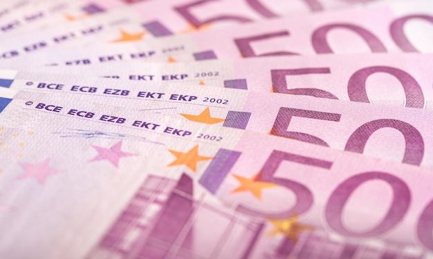 Fundo de notas de 500 euros