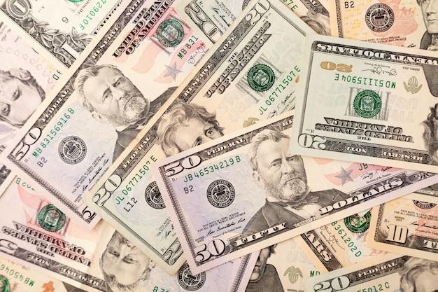 Fundo de notas de dólares americanos, crise financeira global de conceito