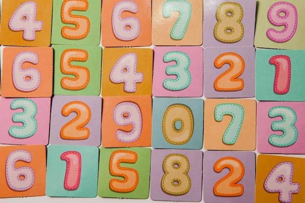 Fundo de números ou padrão uniforme com números