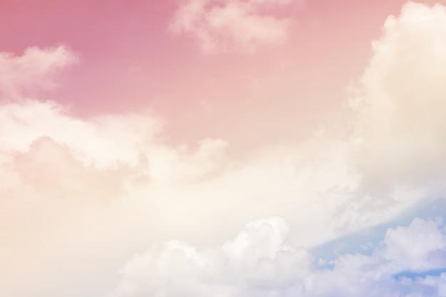 Fundo de nuvem com uma cor pastel