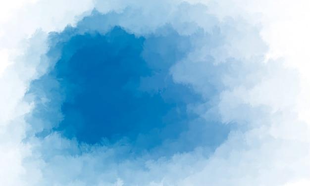 Fundo de nuvem em aquarela de céu azul