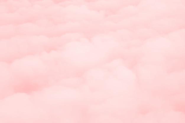 Fundo de nuvens cor de rosa