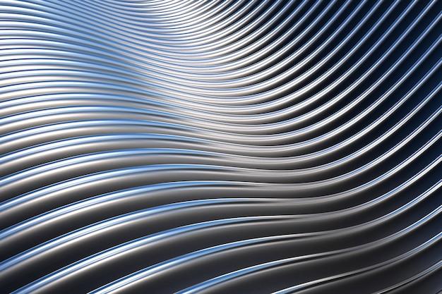 Fundo de onda de metal prata