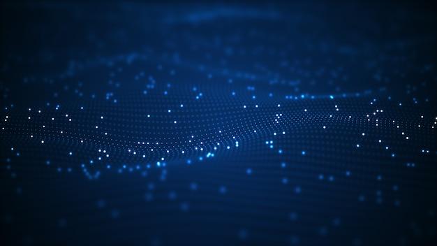 Fundo de onda digital de tecnologia
