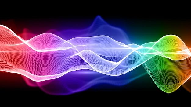 Fundo de ondulação colorido. fumaça fluindo