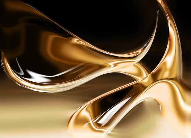 Fundo de ouro líquido gerado por computador para seus projetos