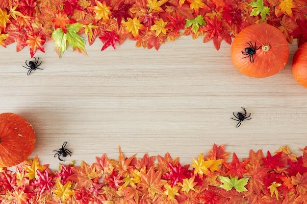 Fundo de outono de espaço livre e tempo de outono