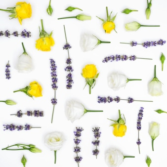 Fundo de padrão de flores