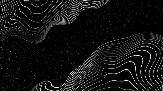 Fundo de padrão de onda abstrato 3d
