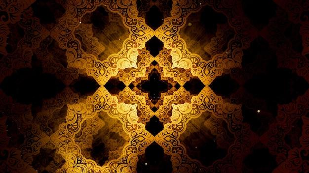 Fundo de padrão islâmico para publicidade e papel de parede em art nouveau e cena de festa da moda