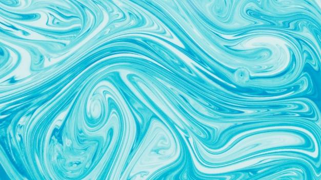 Fundo de padrão único líquido azul marmorizado