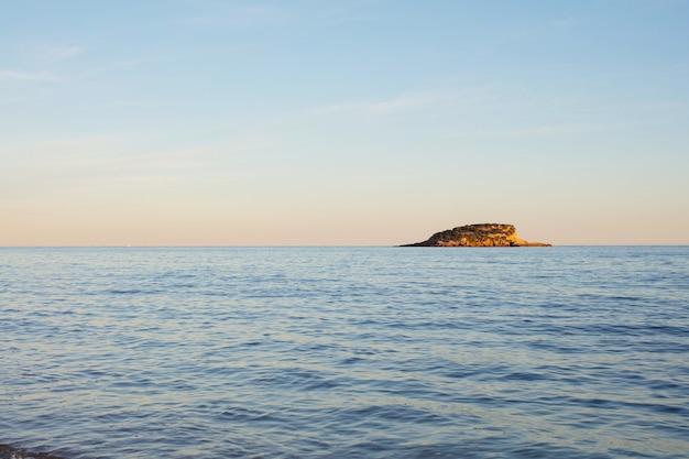 Fundo de paisagem do mar ilha