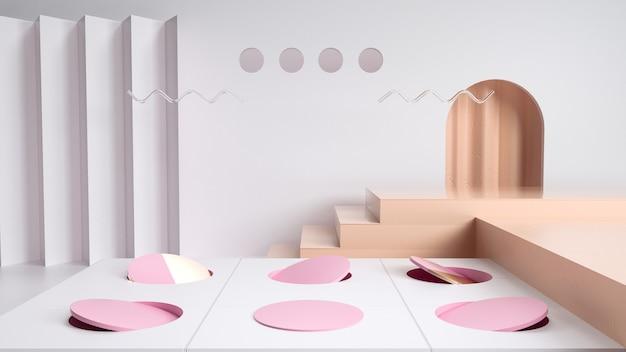 Fundo de palco abstrato para produto de estande