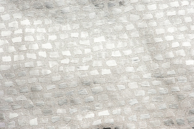 Fundo de pano estampado prateado brilhante