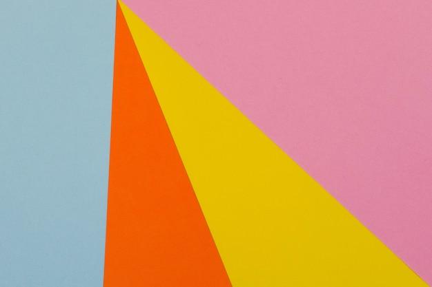 Fundo de papel amarelo azul roxo e laranja
