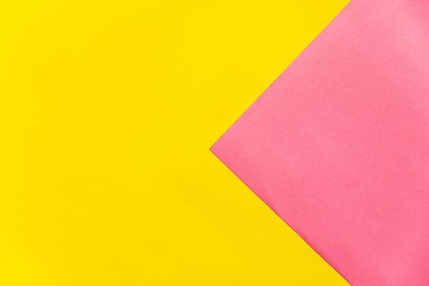 Fundo de papel amarelo e rosa