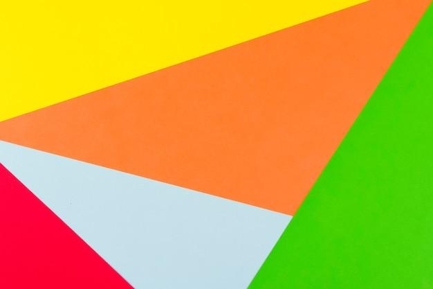 Fundo de papel amarelo vermelho verde azul e laranja