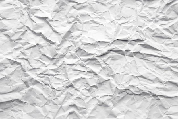 Fundo de papel amassado abstrato branco.