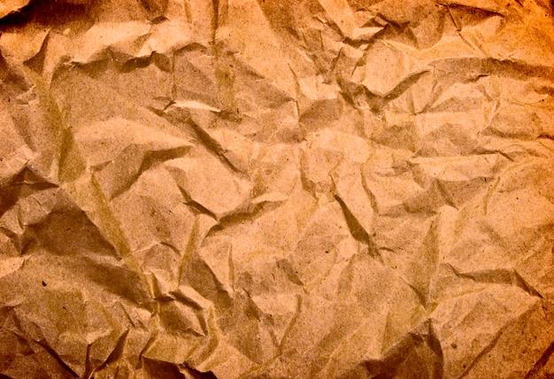 Fundo de papel amassado antigo
