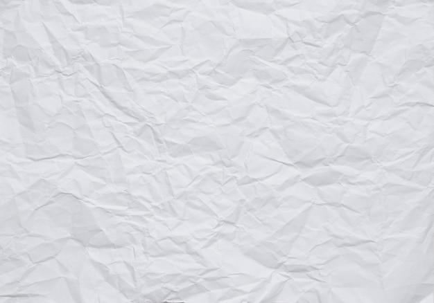 Fundo de papel amassado branco com textura