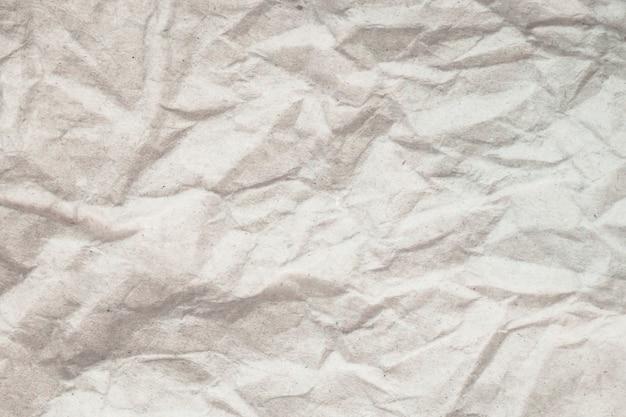 Fundo de papel amassado branco de textura.