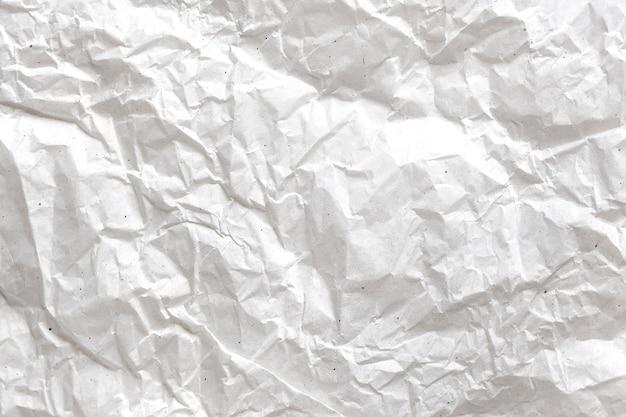 Fundo de papel amassado branco Foto Premium