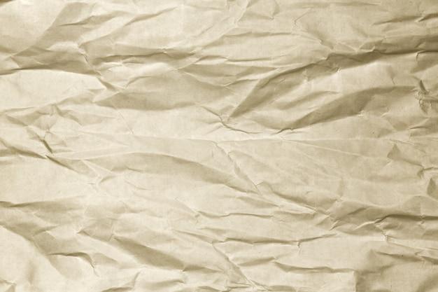 Fundo de papel amassado marrom