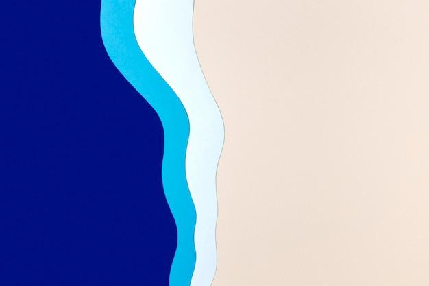 Fundo de papel azul, branco e rosa
