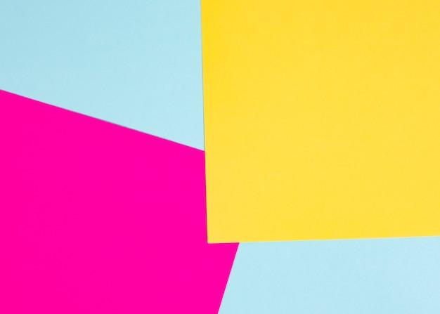 Fundo de papel cartão colorido fúcsia e amarelo