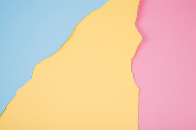 Fundo de papel colorido e esfarrapado