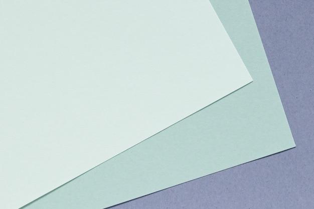 Fundo de papel de cor verde e azul