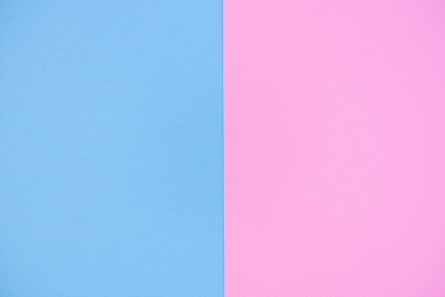 Fundo de papel de duas cores rosa e azul.