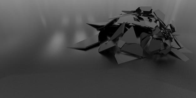 Fundo de papel de parede abstrato 3d shatter
