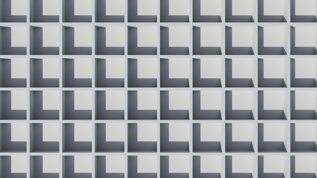 Fundo de papel de parede branco elegante abstrato 3d