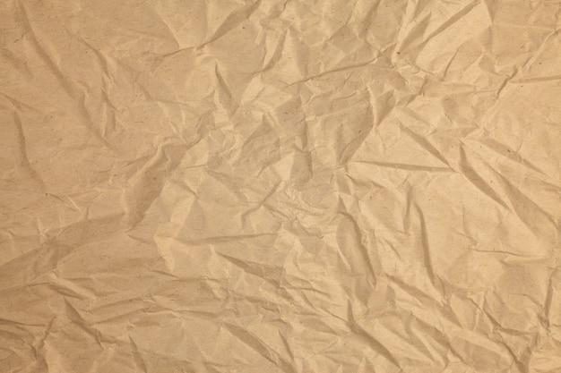 Fundo de papel reciclado amassado vintage