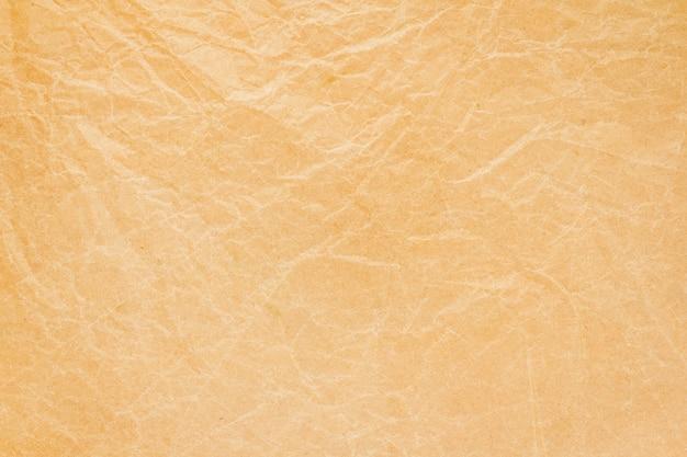 Fundo de papel reciclado com rugas marrons